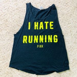 I Hate Running Muscle Gym Tank Top